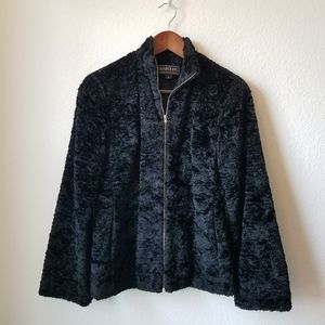 Harold's Crushed Velvet Black Coat